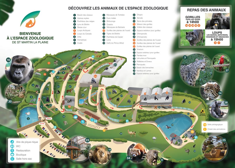 Plan de l'Espace Zoologique